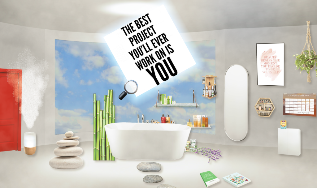 virtual bathroom - still from online game